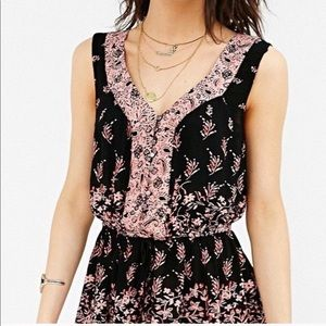 Urban Outfitters Ecote Magdalena Playsuit